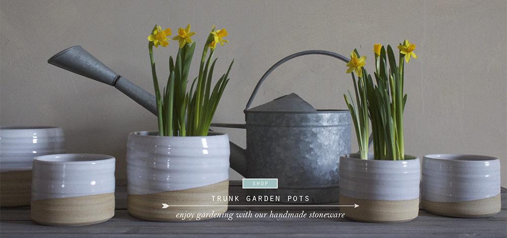 trunk garden pots